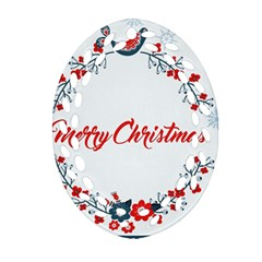Merry Christmas Christmas Greeting Ornament (oval Filigree)