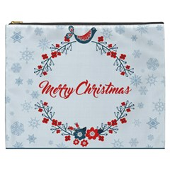 Merry Christmas Christmas Greeting Cosmetic Bag (xxxl)