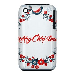 Merry Christmas Christmas Greeting Iphone 3s/3gs by BangZart