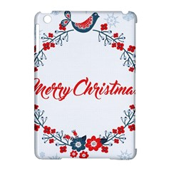 Merry Christmas Christmas Greeting Apple Ipad Mini Hardshell Case (compatible With Smart Cover) by BangZart