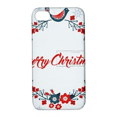 Merry Christmas Christmas Greeting Apple Iphone 4/4s Hardshell Case With Stand by BangZart