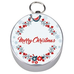 Merry Christmas Christmas Greeting Silver Compasses by BangZart