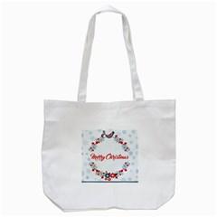 Merry Christmas Christmas Greeting Tote Bag (white)