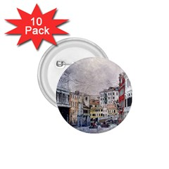 Venice Small Town Watercolor 1 75  Buttons (10 Pack) by BangZart