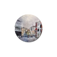 Venice Small Town Watercolor Golf Ball Marker (4 Pack) by BangZart
