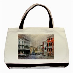 Venice Small Town Watercolor Basic Tote Bag