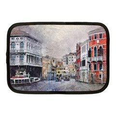 Venice Small Town Watercolor Netbook Case (medium)  by BangZart