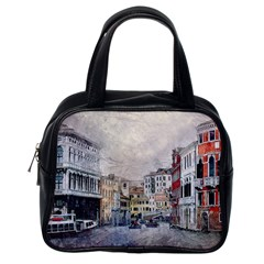 Venice Small Town Watercolor Classic Handbags (one Side) by BangZart