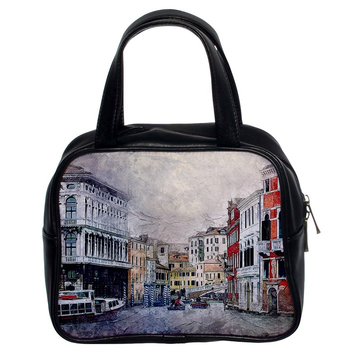 Venice Small Town Watercolor Classic Handbags (2 Sides)