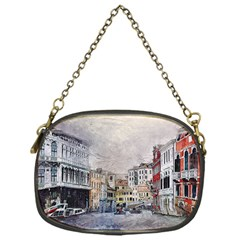Venice Small Town Watercolor Chain Purses (one Side)