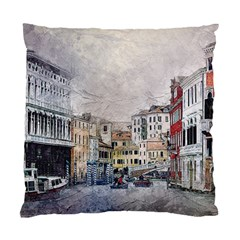 Venice Small Town Watercolor Standard Cushion Case (one Side)