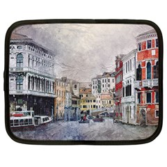 Venice Small Town Watercolor Netbook Case (xl)