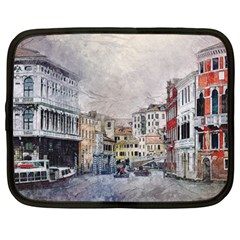 Venice Small Town Watercolor Netbook Case (xxl)  by BangZart