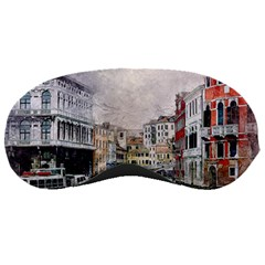 Venice Small Town Watercolor Sleeping Masks