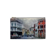 Venice Small Town Watercolor Cosmetic Bag (small)  by BangZart
