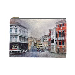 Venice Small Town Watercolor Cosmetic Bag (large)  by BangZart