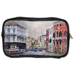 Venice Small Town Watercolor Toiletries Bags by BangZart