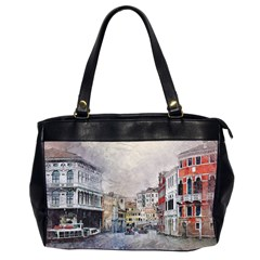 Venice Small Town Watercolor Office Handbags (2 Sides)