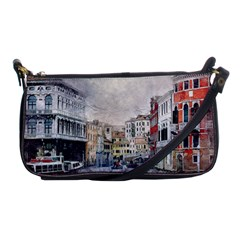 Venice Small Town Watercolor Shoulder Clutch Bags by BangZart