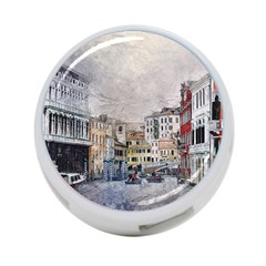 Venice Small Town Watercolor 4 Port Usb Hub (two Sides)