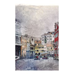 Venice Small Town Watercolor Shower Curtain 48  X 72  (small)