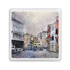 Venice Small Town Watercolor Memory Card Reader (square)  by BangZart