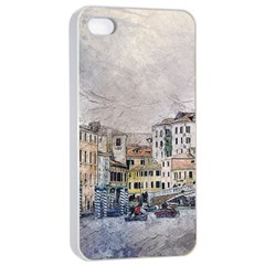 Venice Small Town Watercolor Apple Iphone 4/4s Seamless Case (white) by BangZart