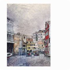 Venice Small Town Watercolor Small Garden Flag (two Sides)