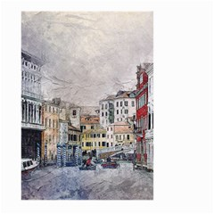 Venice Small Town Watercolor Large Garden Flag (two Sides)