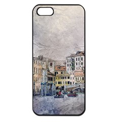 Venice Small Town Watercolor Apple Iphone 5 Seamless Case (black)