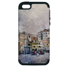 Venice Small Town Watercolor Apple Iphone 5 Hardshell Case (pc+silicone)
