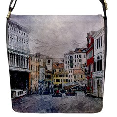 Venice Small Town Watercolor Flap Messenger Bag (s) by BangZart