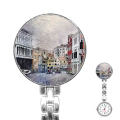 Venice Small Town Watercolor Stainless Steel Nurses Watch by BangZart