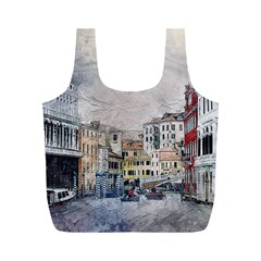 Venice Small Town Watercolor Full Print Recycle Bags (m)  by BangZart