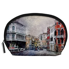 Venice Small Town Watercolor Accessory Pouches (large)