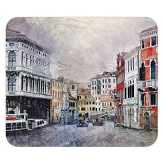 Venice Small Town Watercolor Double Sided Flano Blanket (small)