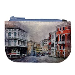 Venice Small Town Watercolor Large Coin Purse by BangZart