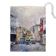 Venice Small Town Watercolor Drawstring Pouches (xxl) by BangZart