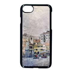Venice Small Town Watercolor Apple Iphone 7 Seamless Case (black)
