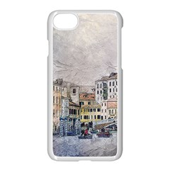 Venice Small Town Watercolor Apple Iphone 7 Seamless Case (white)