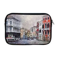 Venice Small Town Watercolor Apple Macbook Pro 17  Zipper Case by BangZart