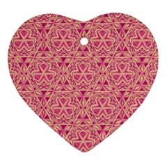 Tribal Pattern Hand Drawing Ornament (heart) by Cveti