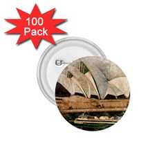 Sydney The Opera House Watercolor 1 75  Buttons (100 Pack)