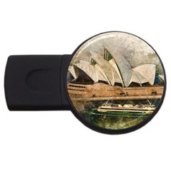 Sydney The Opera House Watercolor Usb Flash Drive Round (2 Gb)