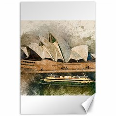 Sydney The Opera House Watercolor Canvas 24  X 36