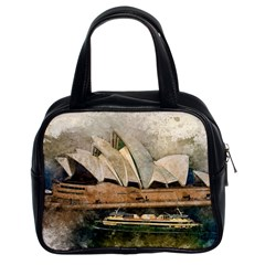 Sydney The Opera House Watercolor Classic Handbags (2 Sides)