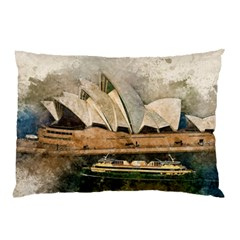 Sydney The Opera House Watercolor Pillow Case