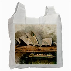 Sydney The Opera House Watercolor Recycle Bag (two Side)