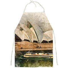 Sydney The Opera House Watercolor Full Print Aprons