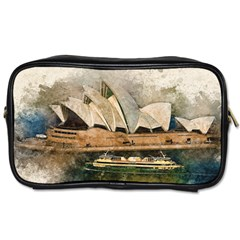 Sydney The Opera House Watercolor Toiletries Bags